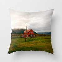 alaska Throw Pillows featuring Alaska by Julia Blanchette
