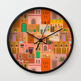 Marrakesh: The Red City Wall Clock