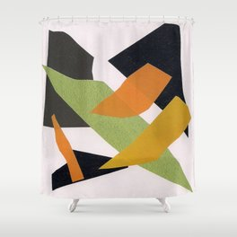 Abstract multicolor ing Shower Curtain