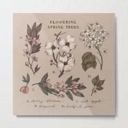 Flowering Spring Trees Metal Print