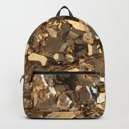Golden Pyrite Mineral Backpack