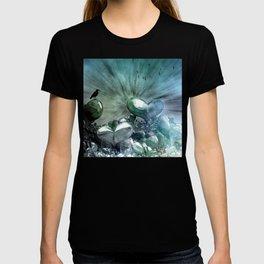 Lost Hearts in Blue, Digital Art T-shirt