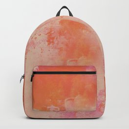 Bright Peachy  Orange Painting Abstract Background Texture Original Artwork Backpack