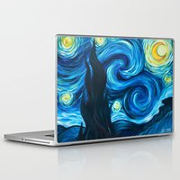 starry night Laptop & iPad Skins featuring Starry Starry Night by Jade Cohen