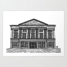 Shrewsbury Museum and Art Gallery, Black and White Art Print