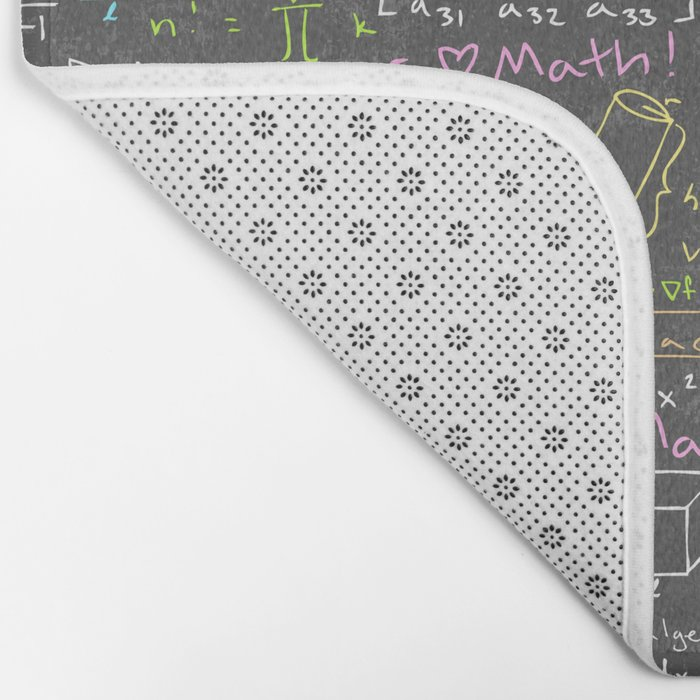 Math Lessons Bath Mat