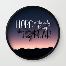 Hope Over Fear Wall Clock