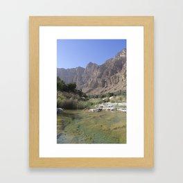 Wadi Tiwi, Oman Framed Art Print