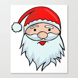 Santa Claus Face - Christmas Xmas Winter Canvas Print
