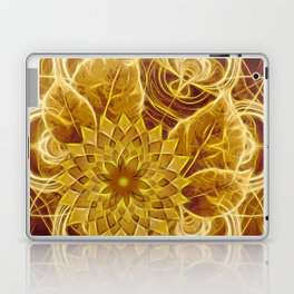 Mysterious glowing kaleidoscope and flower Laptop & iPad Skin