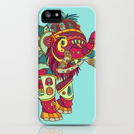Mammoth, cool wall art for kids and adults alike iPhone Case