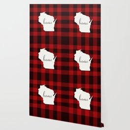 Wisconsin is Home - Buffalo Check Plaid Wallpaper