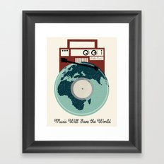 Music Will Save The World - Pablo Casals Quote Framed Art Print