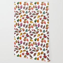 Leaves. Watercolor leaves pattern. Autumn leaves. Wallpaper
