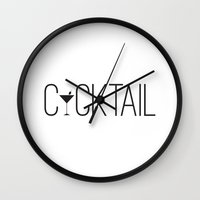 cocktail Wall Clocks featuring Cocktail by Empire Ruhl