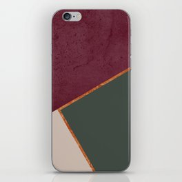 Burgundy Olive Green Gold and Nude Geometric Pattern #society6 #buyart iPhone Skin