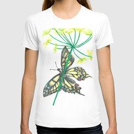 Butterfly Blue Yellow & Black T-shirt