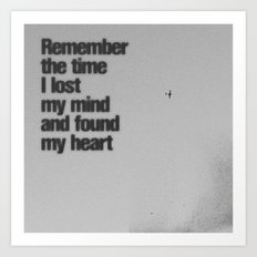 Remember The Time... Art Print