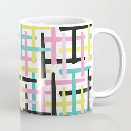 Criss Cross Weave Hand Drawn Vector Pattern Background Coffee Mug