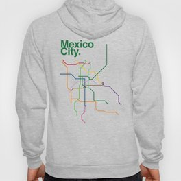 Mexico City Transit Map Hoody