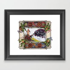 The Creation of Awesome Framed Art Print