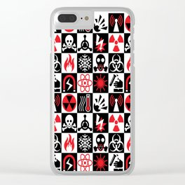 Hazard Danger Icons Clear iPhone Case