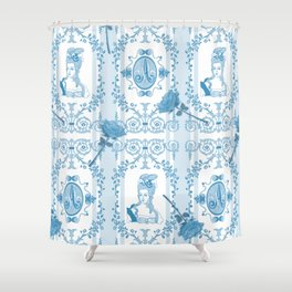 Marie-Antoinette Monogram (Aqua) Shower Curtain