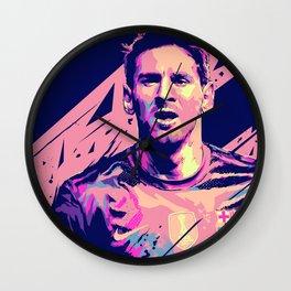 Lionel Messi : Football Illustrations Wall Clock