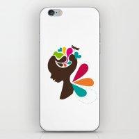 child iPhone & iPod Skins featuring Child by Irmak Akcadogan