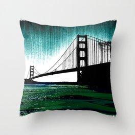 Blacken Gate-San Francisco Throw Pillow