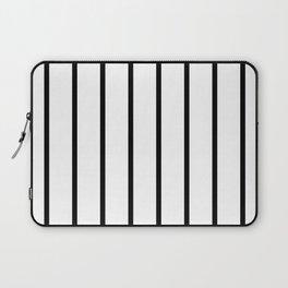 Vertical Lines (Black & White Pattern) Laptop Sleeve