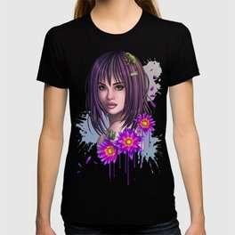 Frog Girl with Flowers T-shirt