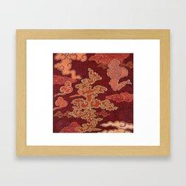 Crimson Clouds Framed Art Print