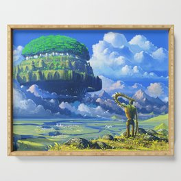 Castle in the sky Serving Tray