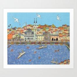 Istanbul marché aux épices Art Print