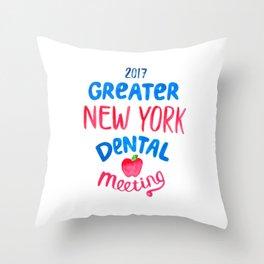 Greater New York Dental Meeting Throw Pillow