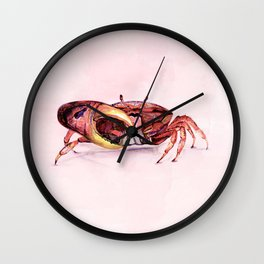 Holly crab! Wall Clock