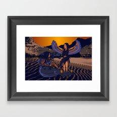 Medusa of Music meets Lilith Framed Art Print