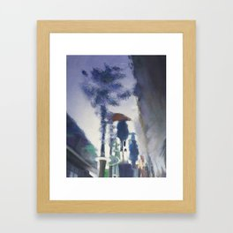Trottoir miroir Framed Art Print