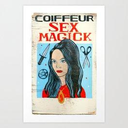 Sex Majick Coiffure Art Print