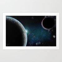Planet X2 Art Print
