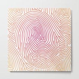 fingerprints2 Metal Print