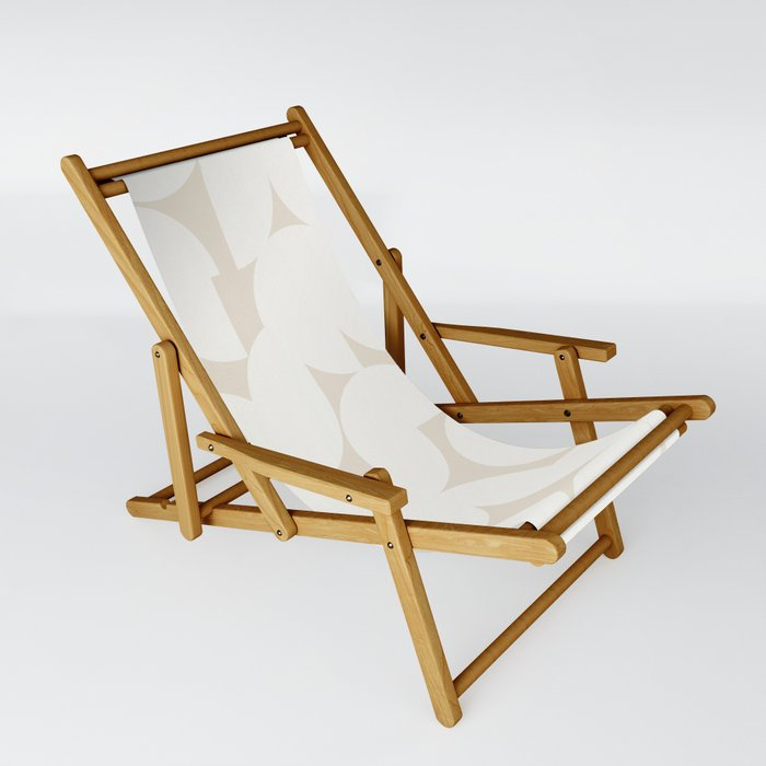 Abstract Shapes - Neutral White I Sling Chair