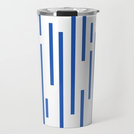 Minimalist Lines – Blue Travel Mug