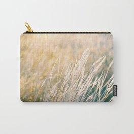 Gold as grass | Golden hour sunset photograph | Wanderlust travel print Carry-All Pouch