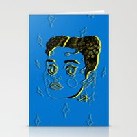 fka twigs Stationery Cards featuring FKA TWIGS by DINA LOPEZ