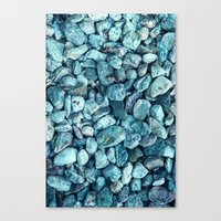 stone Canvas Prints featuring stone by Claudia Drossert