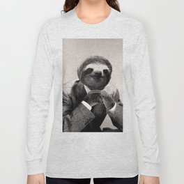 Gentleman Sloth #3 Long Sleeve T-shirt