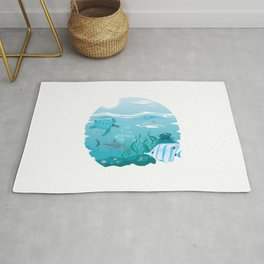 Tropical Marine Life Rug