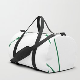 Libra (Olive & White Sign) Duffle Bag